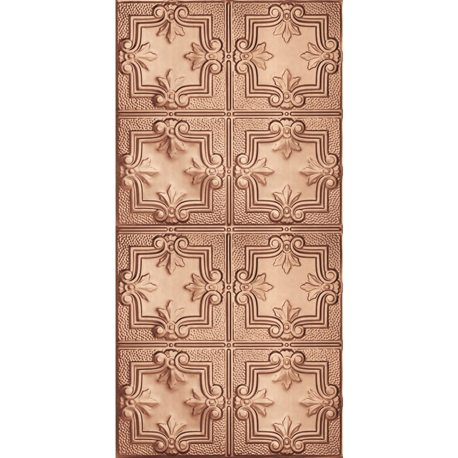 Armstrong Ceilings (Common: 48-in x 24-in; Actual: 48.5-in x 24.5-in) Metallaire Hammered Trefoil Copper Patterned Surface-Mount Panel Ceiling Tiles