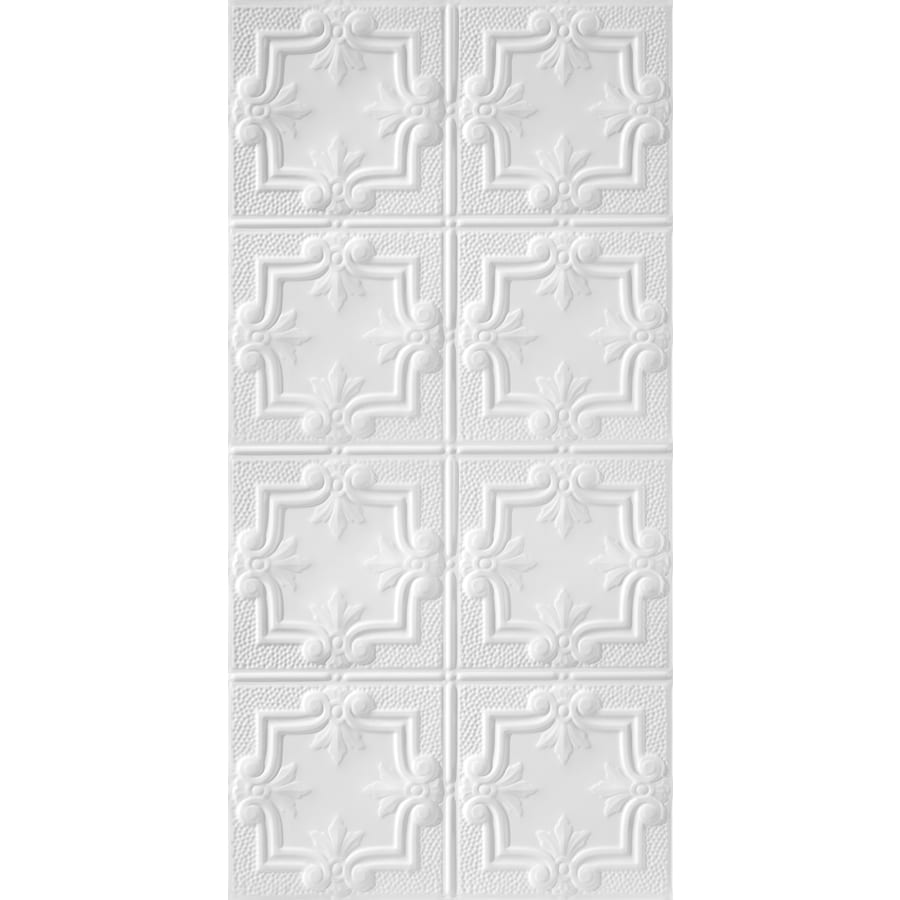 Armstrong Ceilings (Common: 48-in X 24-in; Actual: 48.5-in x 24.5-in) Metallaire Hammered Trefoil White Metal Surface-mount Panel Ceiling Tiles