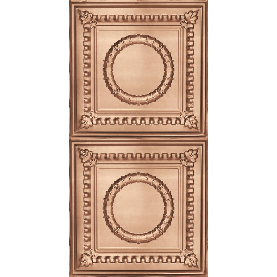 Armstrong Ceilings (Common: 48-in X 24-in; Actual: 48.5-in x 24.5-in) Metallaire Wreath Copper Metal Surface-mount Panel Ceiling Tiles