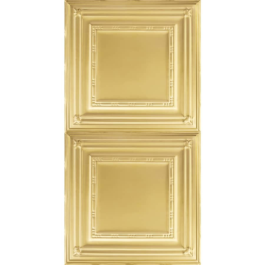 Armstrong Ceilings (Common: 48-in x 24-in; Actual: 48.5-in x 24.5-in) Metallaire Bead Brass Patterned Surface-Mount Panel Ceiling Tiles