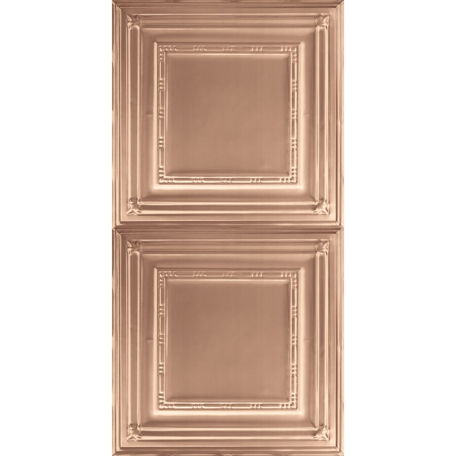 Armstrong Ceilings (Common: 48-in x 24-in; Actual: 48.5-in x 24.5-in) Metallaire Bead Copper Patterned Surface-Mount Panel Ceiling Tiles
