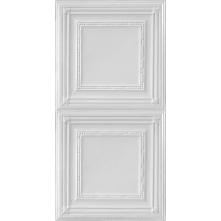 Armstrong Ceilings (Common: 48-in x 24-in; Actual: 48.5-in x 24.5-in) Metallaire Bead White Patterned Surface-Mount Panel Ceiling Tiles