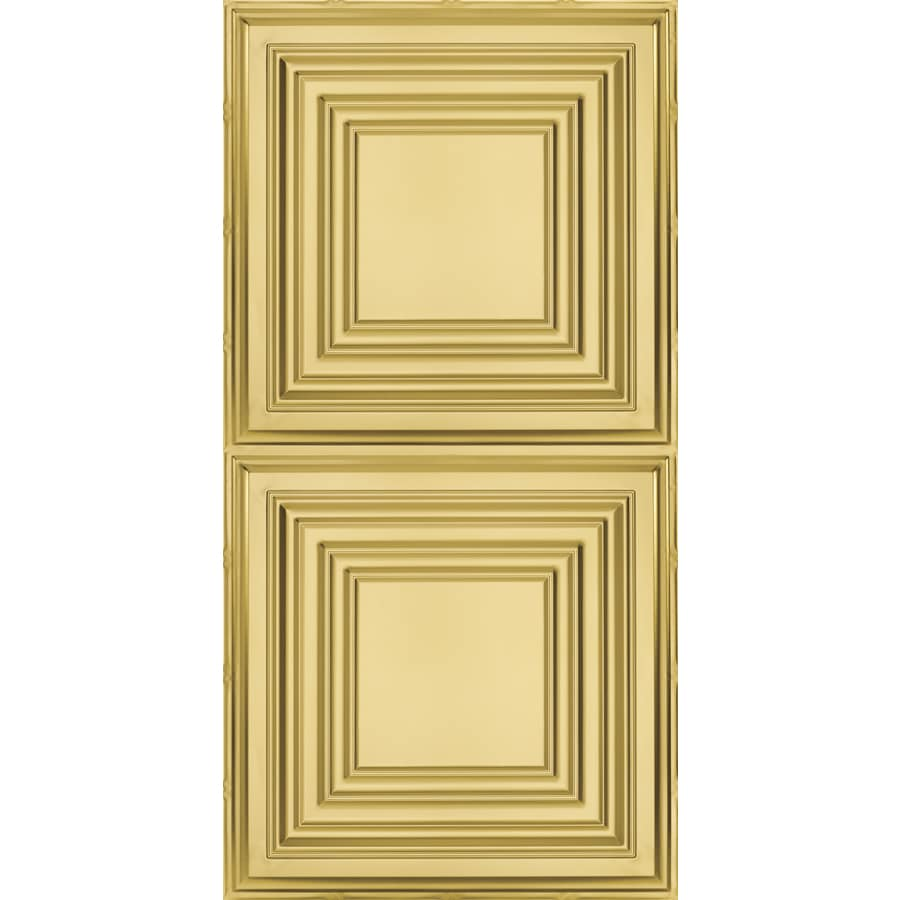 Armstrong Ceilings (Common: 48-in x 24-in; Actual: 48.5-in x 24.5-in) Metallaire Large Panel Brass Patterned Surface-Mount Panel Ceiling Tiles