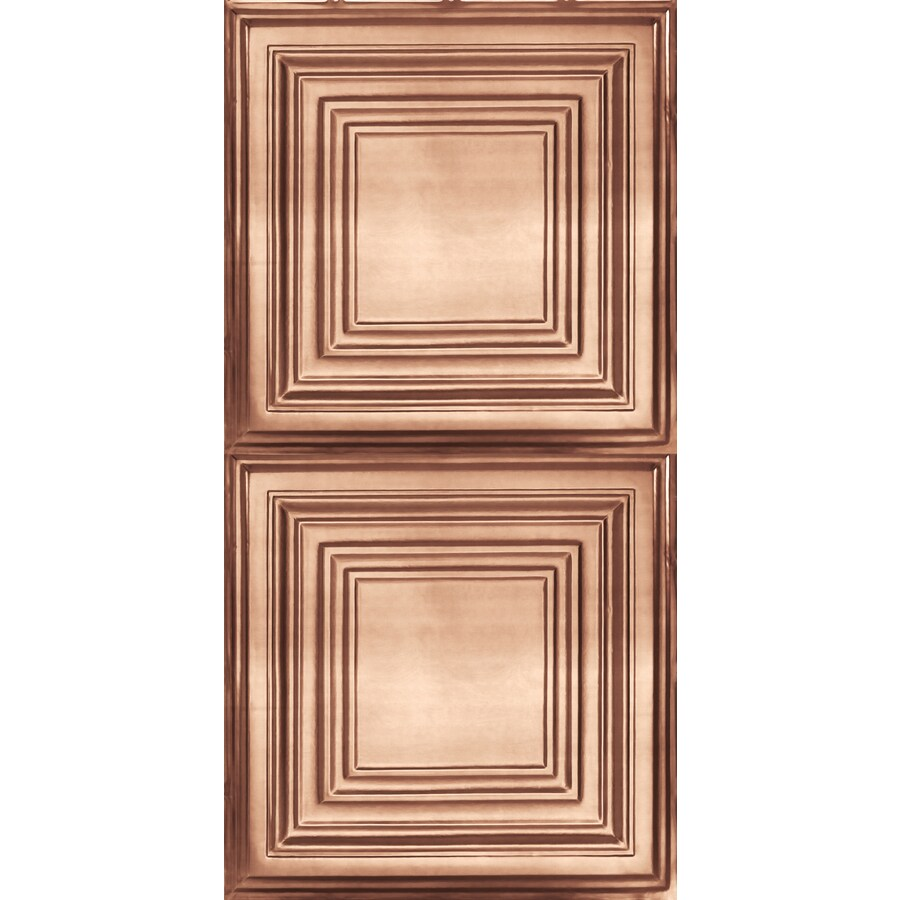 Armstrong Ceilings (Common: 48-in X 24-in; Actual: 48.5-in x 24.5-in) Metallaire Large Panel Copper Metal Surface-mount Panel Ceiling Tiles