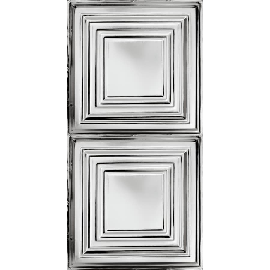 Armstrong Metallaire Chrome Patterned Surface-Mount Panel Ceiling Tiles (Common: 48-in x 24-in; Actual: 48.5-in x 24.5-in)