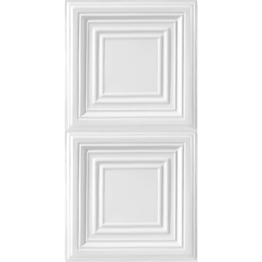 Armstrong Ceilings Metallaire Large Panel White Patterned Surface-Mount Panel Ceiling Tiles (Common: 48-in x 24-in; Actual: 48.5-in x 24.5-in)