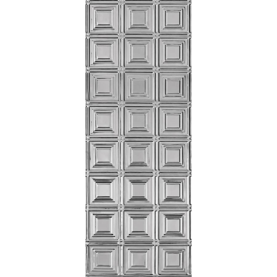Backsplash Lowes: Armstrong Ceilings 18.5-in X 48.5-in Stainless Steel