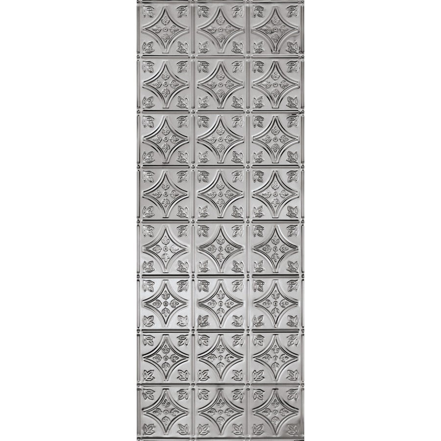 Armstrong 18.5-in x 48.5-in Stainless Steel Metal Kitchen Backsplash