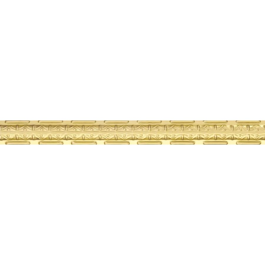 Armstrong Metallaire Brass Metal Crown Ceiling Grid Trim