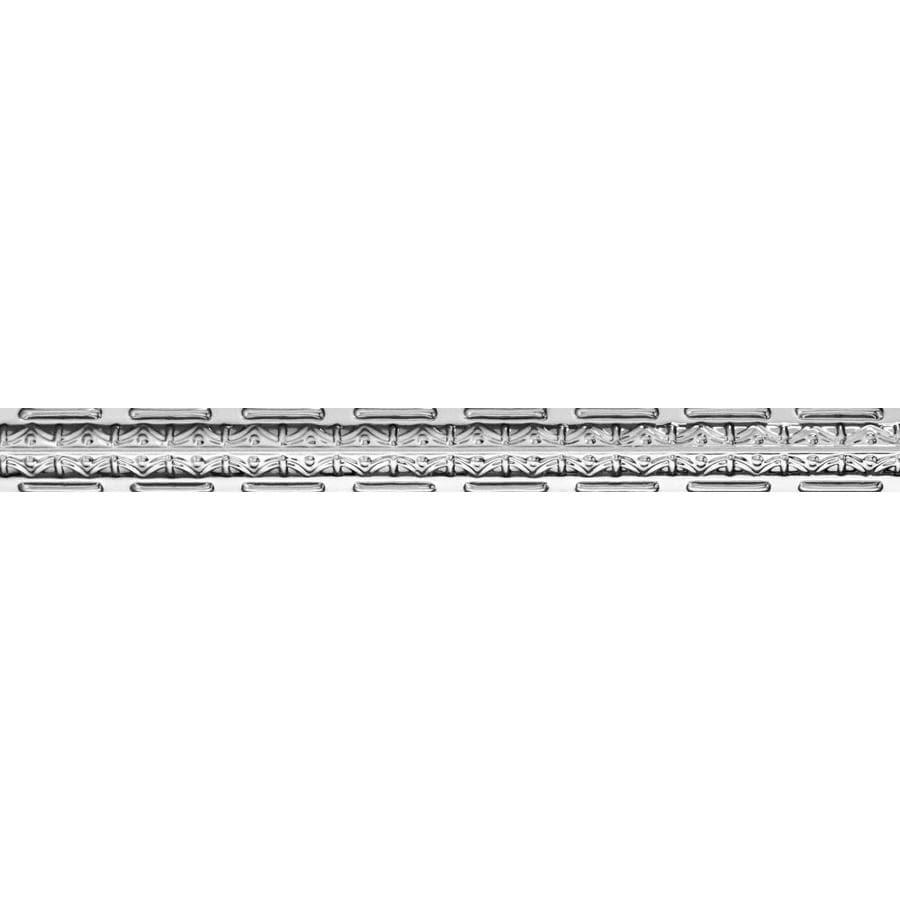 Armstrong Ceilings Metallaire Girder Nosing 4-ft Chrome Metal Metallic Crown Ceiling Grid Trim