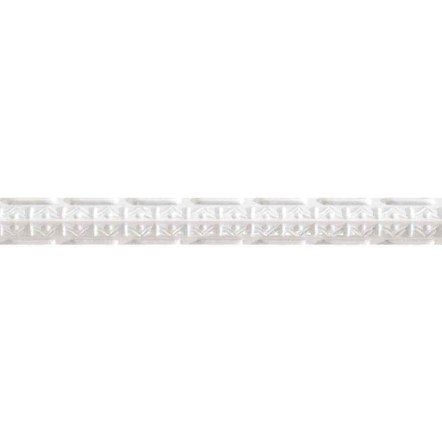 Armstrong Ceilings Metallaire Girder Nosing 4-ft White Metal Metallic Crown Ceiling Grid Trim