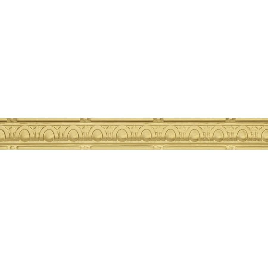 Shop Armstrong Ceilings 4 Ft Brass Metal Crown Ceiling