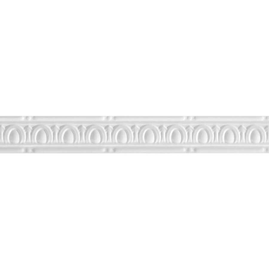 Armstrong Ceilings Metallaire Small Eggs and Dart 4-ft White Metal Metallic Crown Ceiling Grid Trim