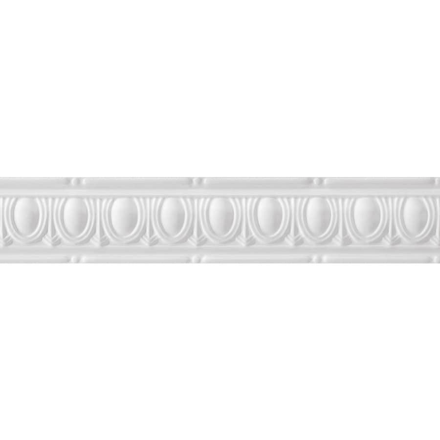 Armstrong Ceilings Metallaire Large Eggs and Dart 4-ft White Metal Metallic Crown Ceiling Grid Trim