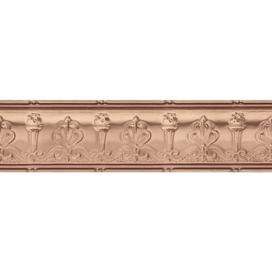 Armstrong Ceilings Metallaire Torch 4-ft Copper Metal Metallic Crown Ceiling Grid Trim