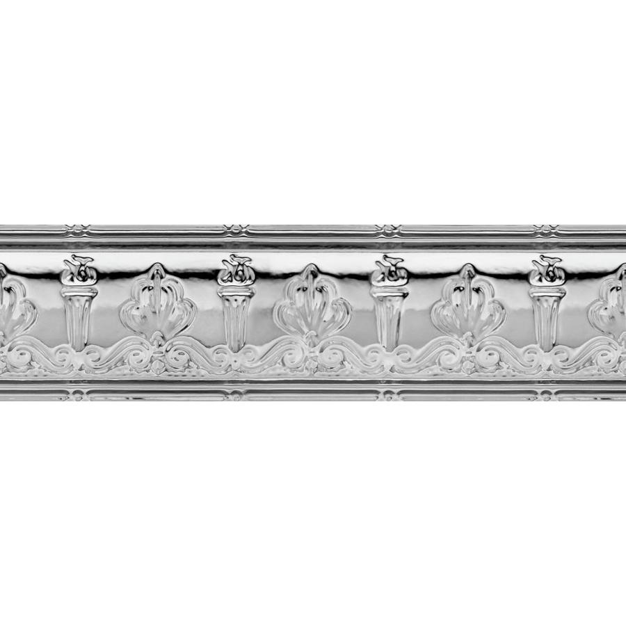 Armstrong Metallaire Chrome Metal Crown Ceiling Grid Trim