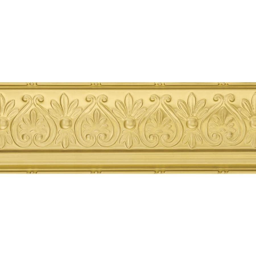 Armstrong Ceilings Metallaire Floral 4-ft Brass Metal Metallic Crown Ceiling Grid Trim