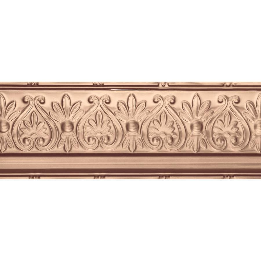 Armstrong Ceilings Metallaire Floral 4-ft Copper Metal Metallic Crown Ceiling Grid Trim
