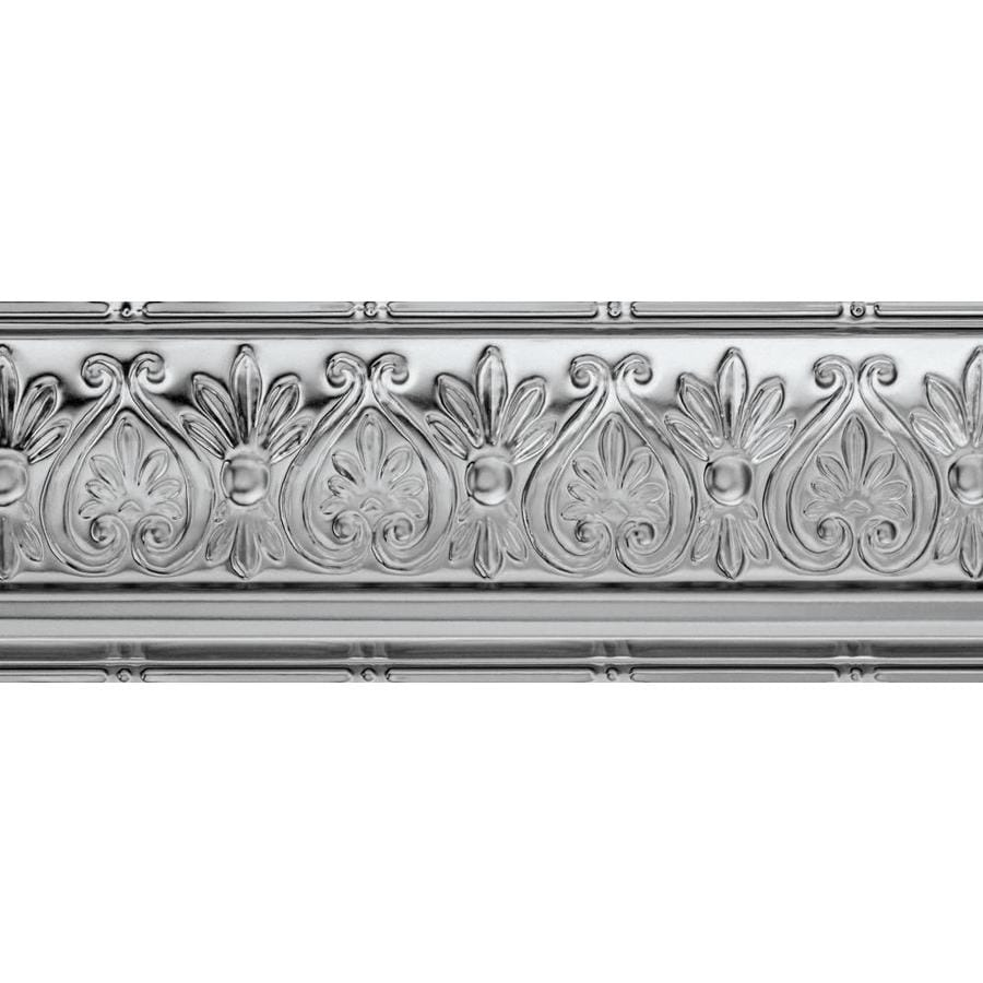 Ceiling Trim Lowes: Shop Armstrong Ceilings Metallaire Floral Cornice 4-ft
