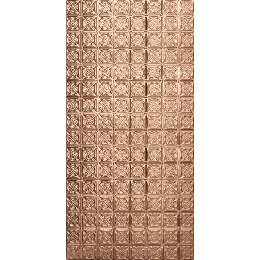 Armstrong Ceilings (Common: 48-in X 24-in; Actual: 48.5-in x 24.5-in) Metallaire Medallion Copper Metal Surface-mount Panel Ceiling Tiles