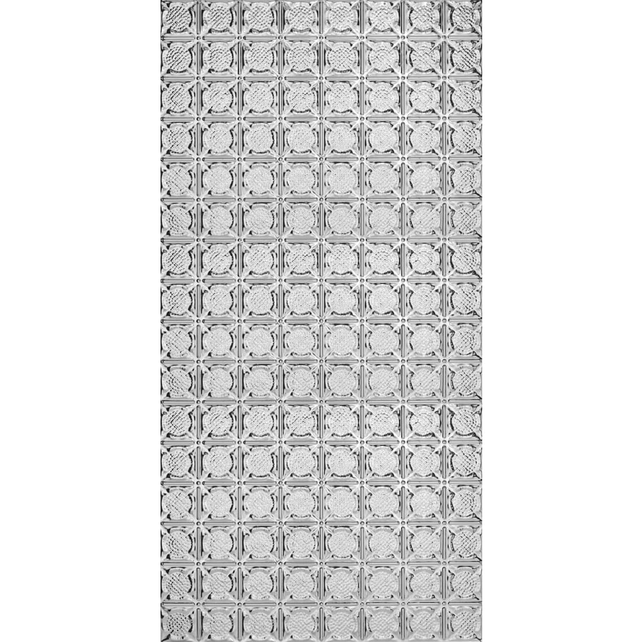 Armstrong Ceilings (Common: 48-in x 24-in; Actual: 48.5-in x 24.5-in) Metallaire Medallion Chrome Patterned Surface-Mount Panel Ceiling Tiles