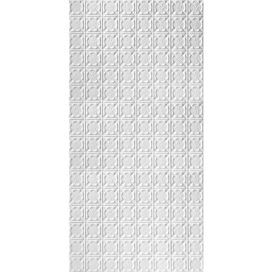 Armstrong Ceilings (Common: 48-in x 24-in; Actual: 48.5-in x 24.5-in) Metallaire Medallion White Patterned Surface-Mount Panel Ceiling Tiles