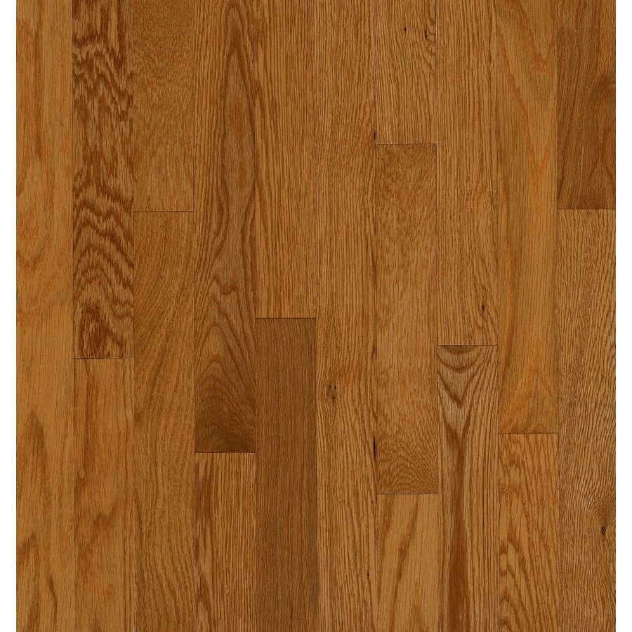 Shop bruce manchester gunstock oak solid hardwood for Real oak hardwood flooring