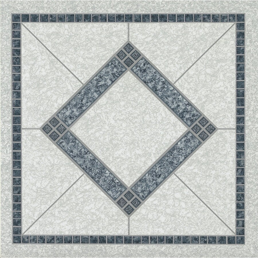 Style Selections 1-Piece 12-in x 12-in Twilight Blue Peel-And-Stick Ceramic Residential Vinyl Tile