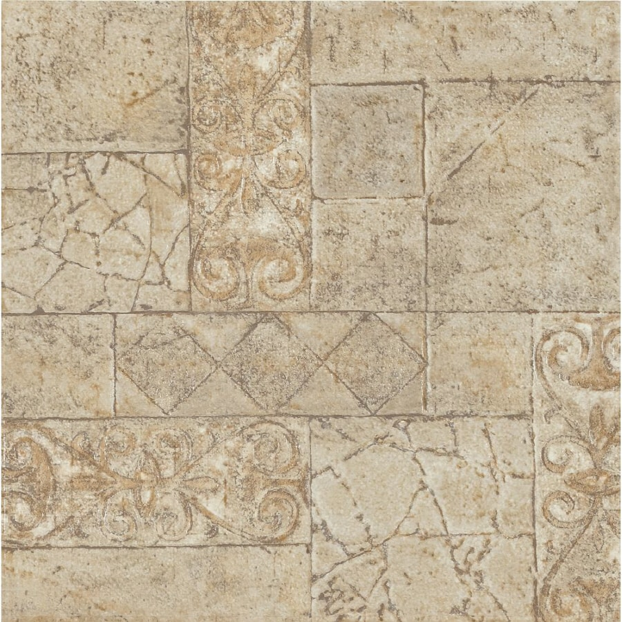 Shop Armstrong Terraza 1 Piece 12 In X 12 In Toledo Peel And Stick Pattern Vinyl Tile At