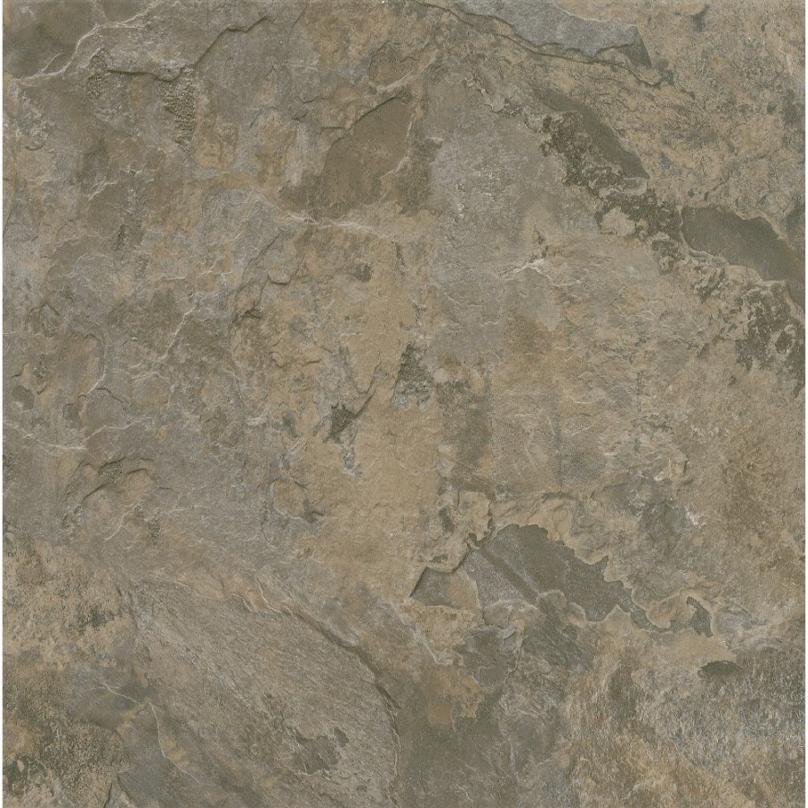 Armstrong Terraza 1-Piece 12-in x 12-in Gray/Brown Peel-And-Stick Stone Residential Vinyl Tile