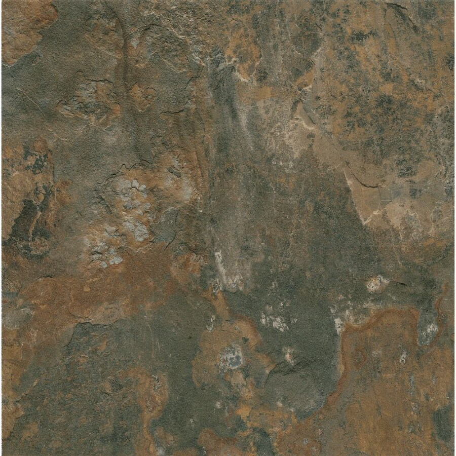 Armstrong Crescendo 1-Piece 12-in x 12-in Groutable Canyon Shadow Peel-And-Stick Stone Vinyl Tile