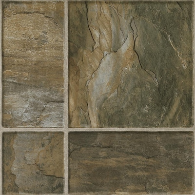 Stones And Ceramic 15 94 In W X 3 98 Ft L Canyon Slate Tile Look Laminate Flooring