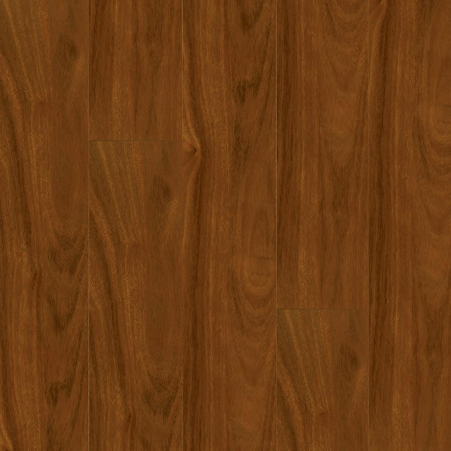 Armstrong 4.92-in W x 3.98-ft L Santos Mahogany High-Gloss Laminate Wood Planks