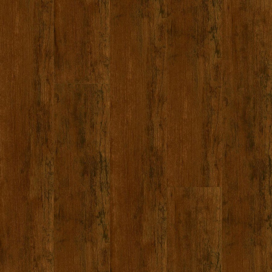 Armstrong 4.92-in W x 3.98-ft L Aged Cherry High-Gloss Laminate Wood Planks