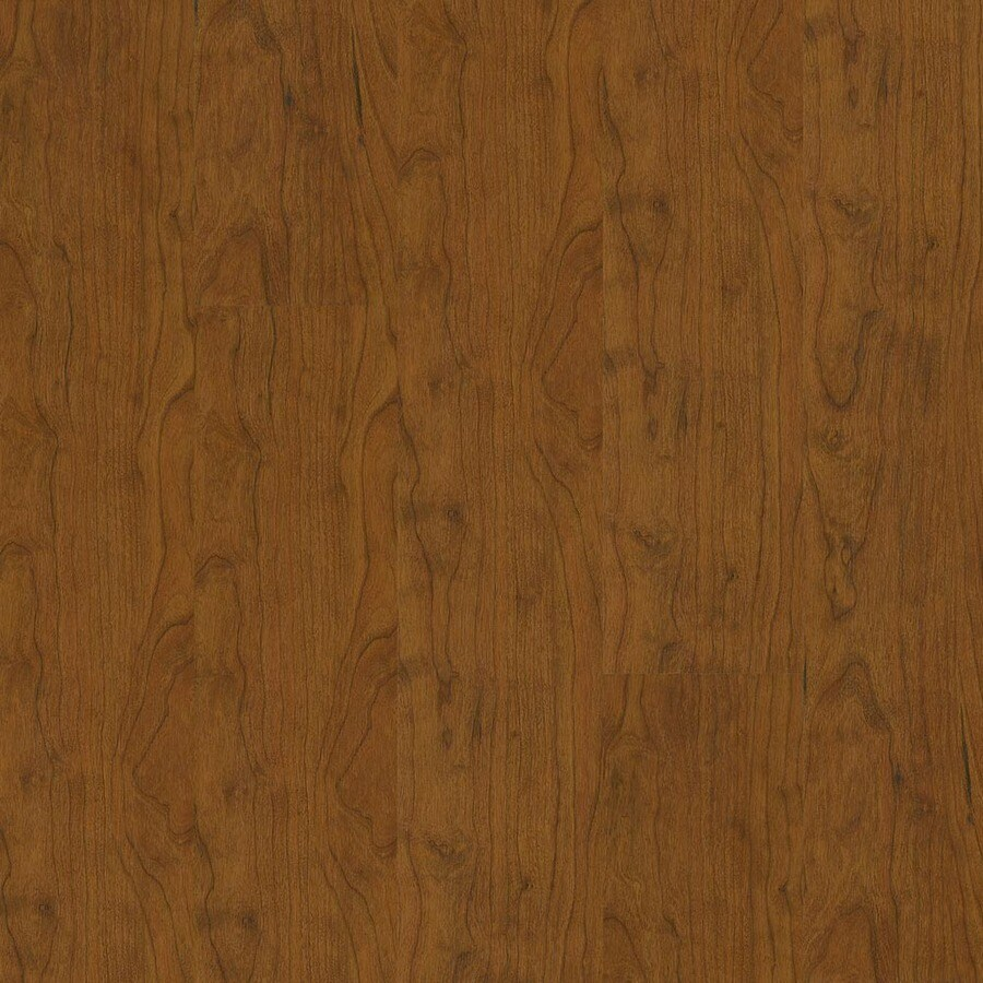 Armstrong 5.31-in W x 3.98-ft L New England Cherry High Gloss Laminate Wood Planks