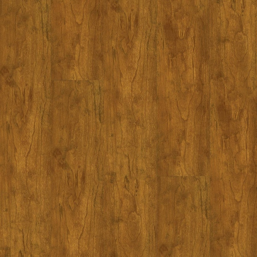 Armstrong High Gloss 4.92-in W x 3.93-ft L Natural Cherry Wood Plank Laminate Flooring