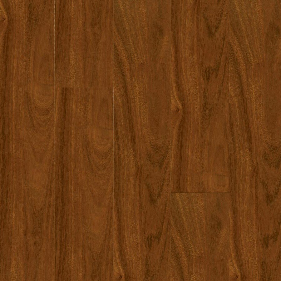 Armstrong Flooring High Gloss 4.92-in W x 3.93-ft L Santos Mahogany Wood Plank Laminate Flooring