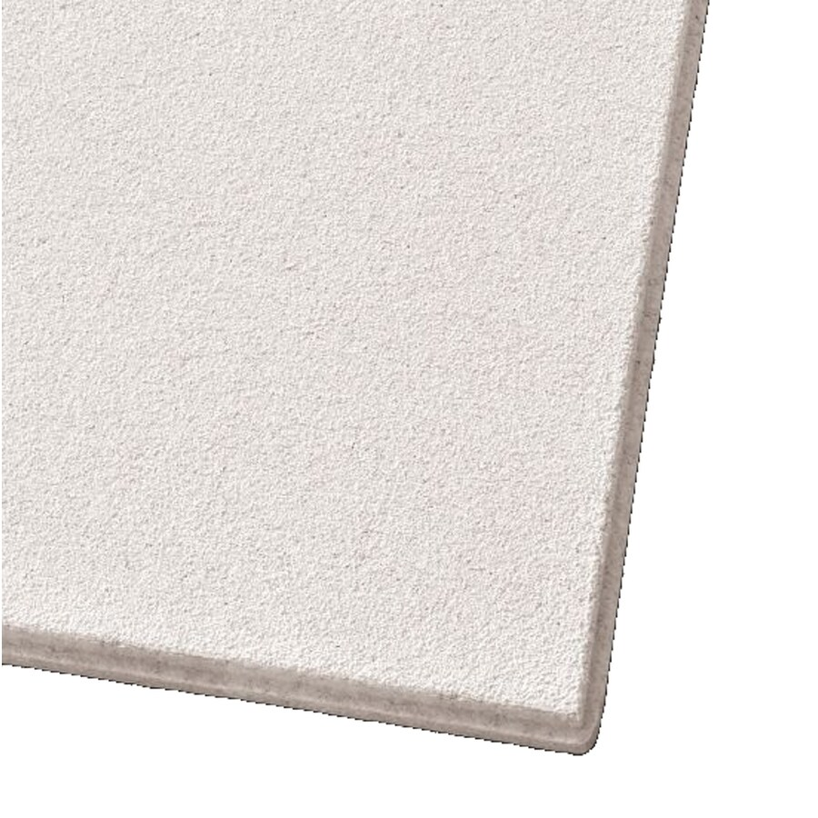 Armstrong Ceilings (Common: 24-in x 24-in; Actual: 23.704-in x 23.704-in) Mesa 12-Pack White Smooth 9/16-in Drop Acoustic Panel Ceiling Tiles