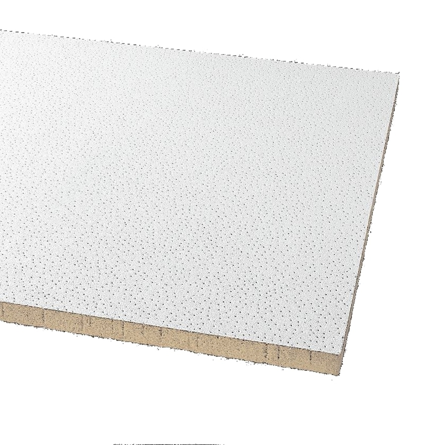 Armstrong Ceilings (Common: 24-in x 24-in; Actual: 23.813-in x 23.813-in) Clean Room 12-Pack White Smooth 15/16-in Drop Acoustic Panel Ceiling Tiles