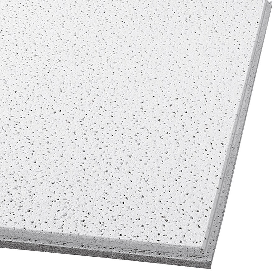 Armstrong Fine Fissured 10-Pack White Fissured 9/16-in Drop Acoustic Panel Ceiling Tiles (Common: 24-in x 24-in; Actual: 23.745-in x 23.745-in)