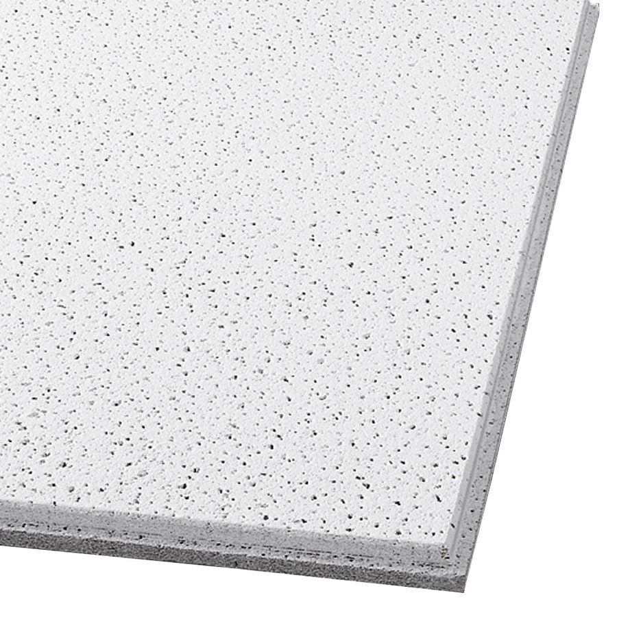 Armstrong Ceilings (Common: 48-in x 24-in; Actual: 47.745-in x 23.745-in) Fine Fissured 6-Pack White Fissured 9/16-in Drop Acoustic Panel Ceiling Tiles