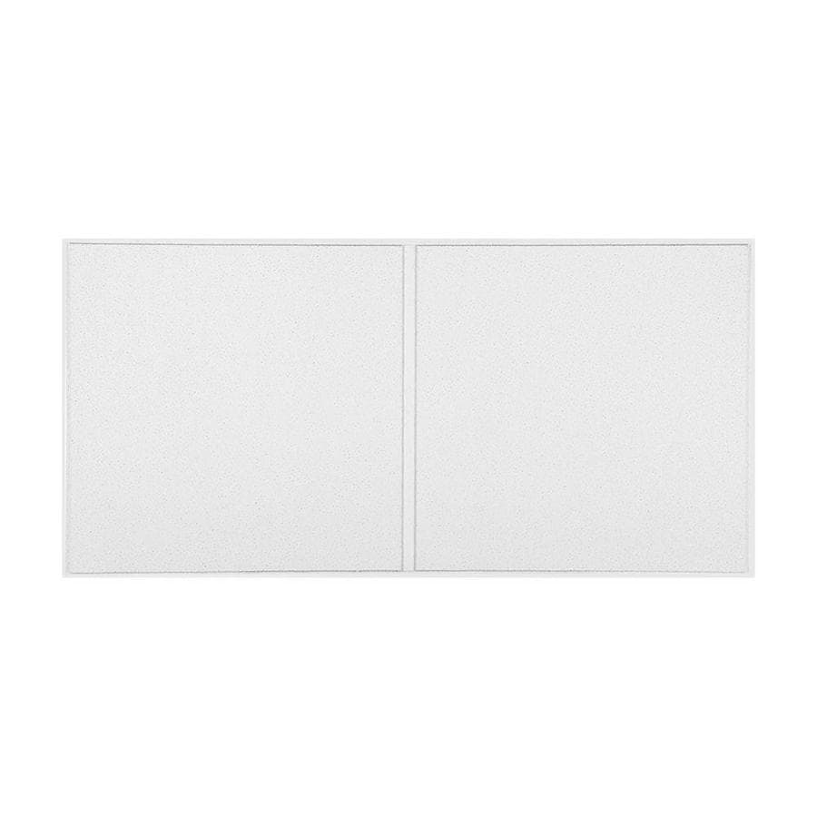 Armstrong Dune 10-Pack White Smooth 9/16-in Drop Acoustic Panel Ceiling Tiles (Common: 48-in x 24-in; Actual: 47.745-in x 23.745-in)
