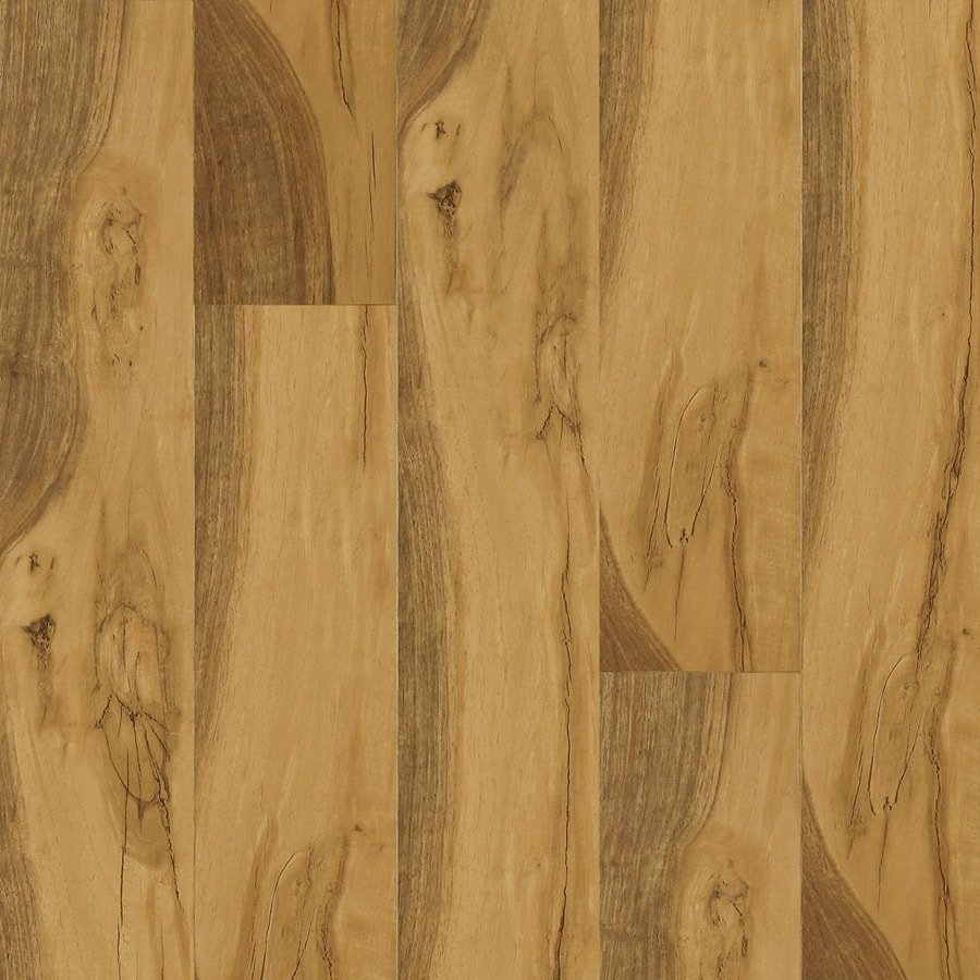 Armstrong Beveled Wood 4.92-in W x 3.98-ft L Yorkshire Walnut Handscraped Laminate Wood Planks