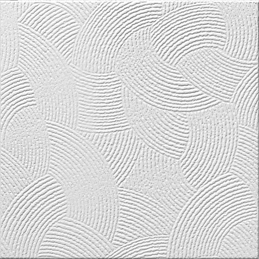 Armstrong Ceilings (Common: 12-in x 12-in; Actual: 11.985-in x 11.985-in) Pinehurst 40-Pack White Textured Surface-Mount Acoustic Ceiling Tiles