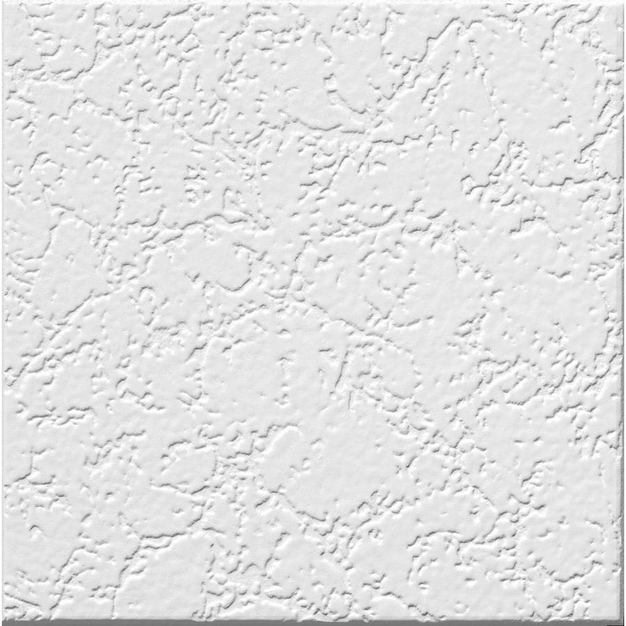 Armstrong Grenoble Homestyle 40-Pack White Textured Surface-Mount Acoustic Ceiling Tiles (Common: 12-in x 12-in; Actual: 11.985-in x 11.985-in)