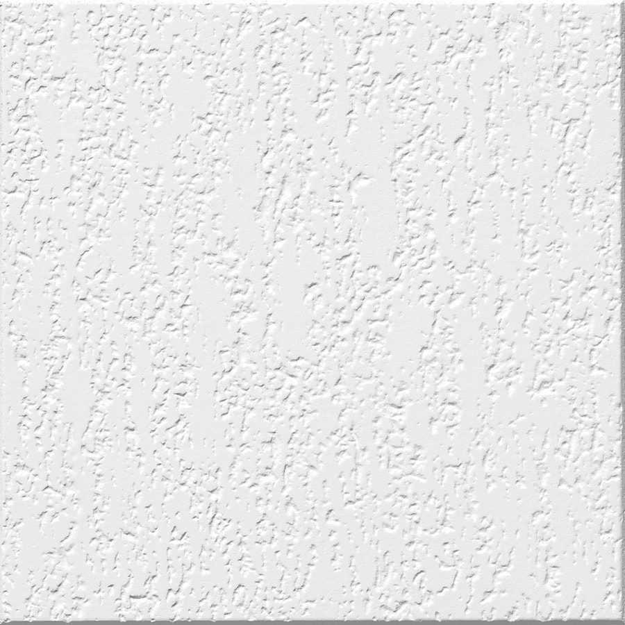 Armstrong Ceilings (Common: 12-in x 12-in; Actual: 11.985-in x 11.985-in) Impression 40-Pack White Textured Surface-Mount Acoustic Ceiling Tiles