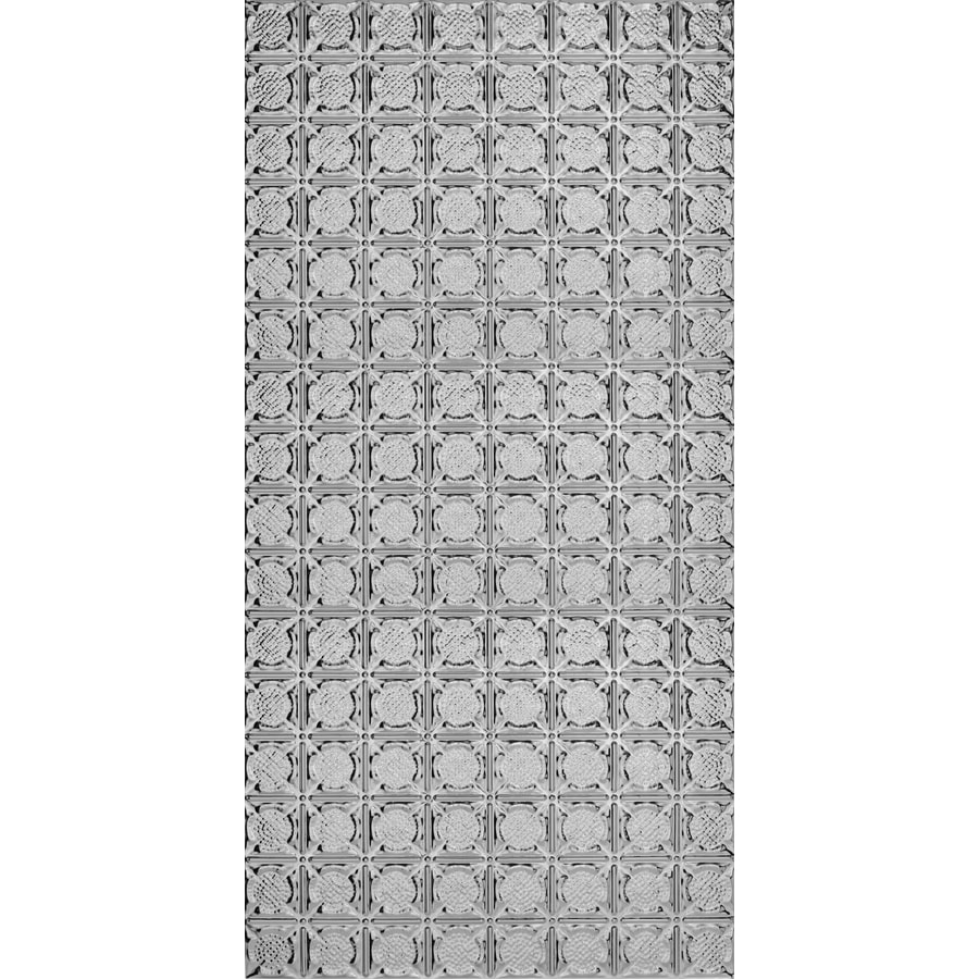 Armstrong Ceilings Metallaire Medallion Steel Patterned Surface-Mount Panel Ceiling Tiles (Common: 48-in x 24-in; Actual: 48.5-in x 24.5-in)
