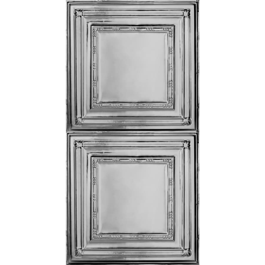 Armstrong Ceilings Metallaire Bead Steel Patterned Surface-Mount Panel Ceiling Tiles (Common: 48-in x 24-in; Actual: 48.5-in x 24.5-in)