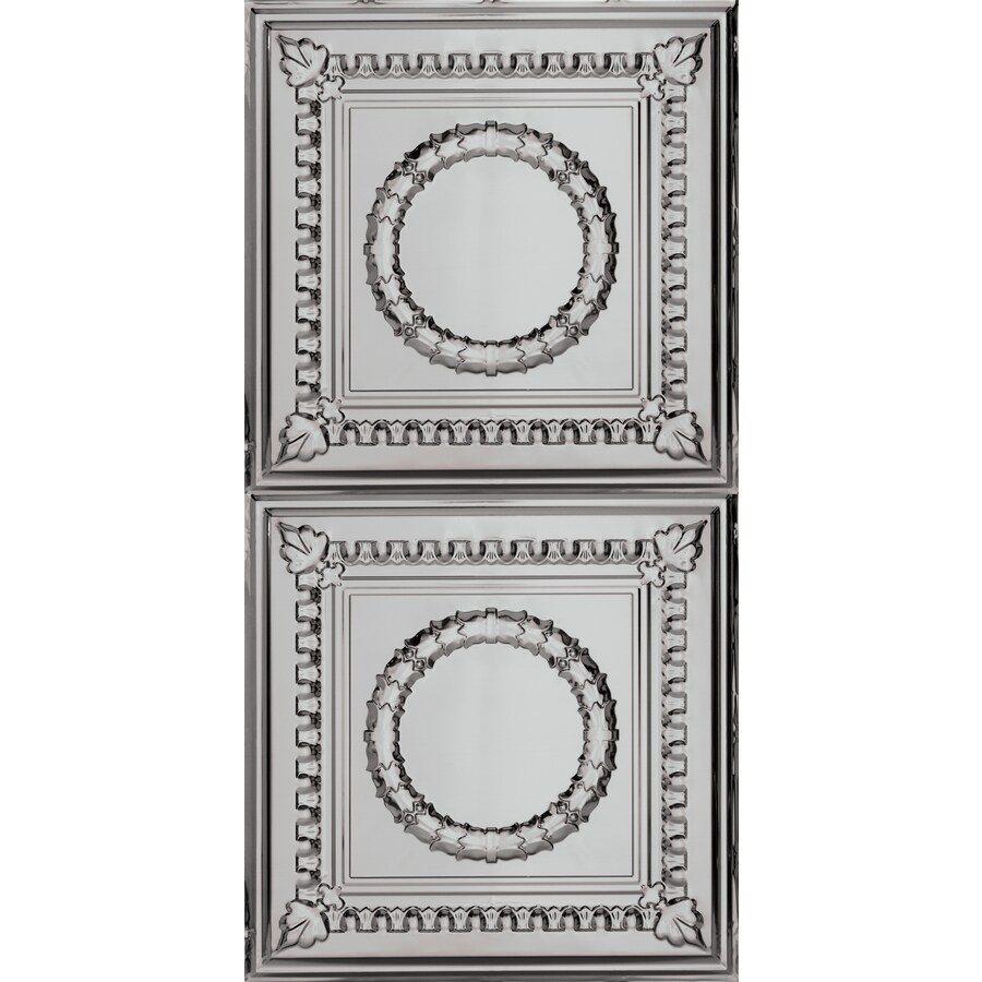 Armstrong Ceilings (Common: 48-in X 24-in; Actual: 48.5-in x 24.5-in) Metallaire Wreath Lacquered Steel Metal Surface-mount Panel Ceiling Tiles