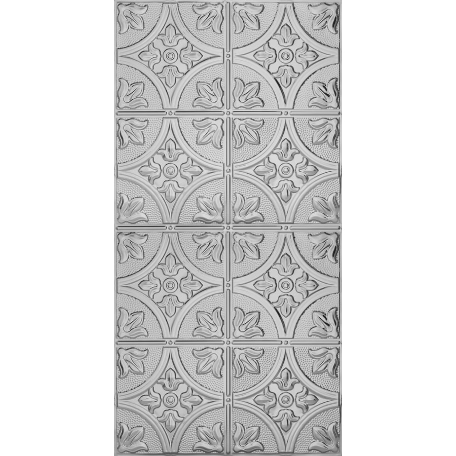 Armstrong Ceilings Metallaire Large Floral Circle Steel Patterned Surface-Mount Panel Ceiling Tiles (Common: 48-in x 24-in; Actual: 48.5-in x 24.5-in)
